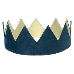 Qilo Navy Suede Crown ($60) ❤ liked on Polyvore featuring accessories, hats, fillers, fillers - blue, blue crown, crown hat, velcro hat, navy blue hat and adjustable hats
