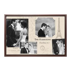 Parisian Elegance Canvas Print, Brown, Single piece, 24 x 36 inches, Beige
