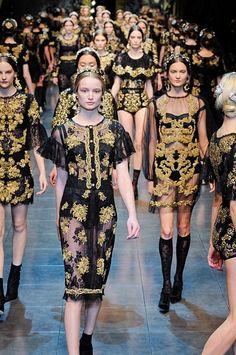 FASHION PEOPLE | Dolce & Gabbana - коллекция осень-зима 2012.