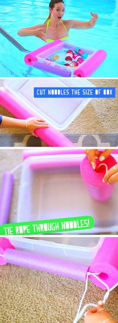 Make a Floatie Ice Chest | 22 DIY Summer Life Hacks for Teens that everyone needs to know!