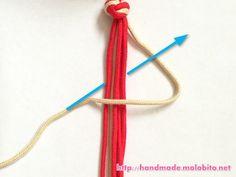 タッチング結びの編み方手順7