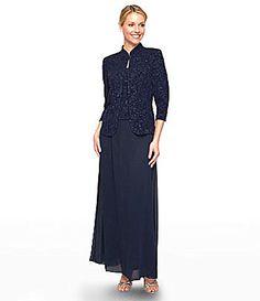 Alex Evenings Woman Embellished Jacket Dress #Dillards