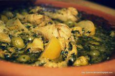 Tajine with chicken, olives and pickled lemon