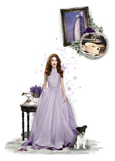"""""""lavender"""" by forebodinq ❤ liked on Polyvore featuring art, bousO2 and forebodinqTS"""