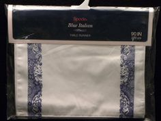 "Spode Blue Italian Table Runner 13"" X 90"" by Spode. $79.99. Dimensions: N/A. Brand New - First Quality. Table Runner 13"" X 90"" - Blue Transfer Scenes On White Background - Current Production With Black Backstamp - Made In Imported"