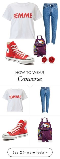 """""""Tulip Marine 1"""" by hannah-graves on Polyvore featuring Miss Selfridge, H&M, Converse, Marc Jacobs and Bling Jewelry"""