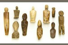 Ancient to early historic Inuit Eskimo ivory & bone figures.