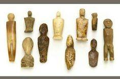 Ancient to early historic Inuit Eskimo ivory & bone figures.