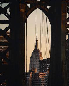 Manhattan Bridge, Brooklyn Bridge, Empire State Building, Travel, Viajes, Destinations, Traveling, Trips