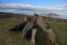 Giants Grave up the hills in Whiting Bay. You can see Holy Isle in the background and Goatfell way in the backgound on the left hand side
