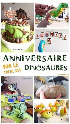 Fête d'anniversaire sur le thème des dinosaures pour les 4 ans de Gabchousaure