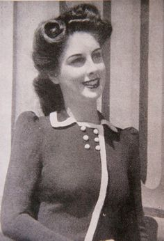 "1940s fashion- ""Dublin""- Ladies Knitted Coat- Wartime fashion-  Knitting ePattern b32 b34 b36. $2.20, via Etsy."