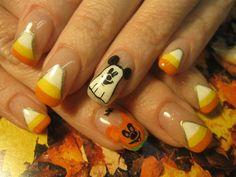 Nail Art Gallery - mickeys n candy corn