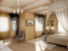 Marvellous Wooden Flooring Bedroom Design With Lighting Ceiling As