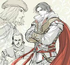 Ezio, Mario y Leonardo Assassins Creed Series, Assassins Creed Unity, Assassin's Creed Brotherhood, Connor Kenway, Cry Of Fear, All Assassin's Creed, Fantasy, Videogames, Film
