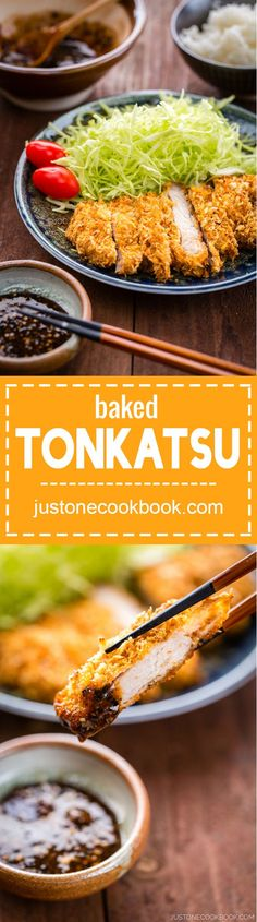 Baked Tonkatsu (揚げないとんかつ) | Easy Japanese Recipes at http://JustOneCookbook.com