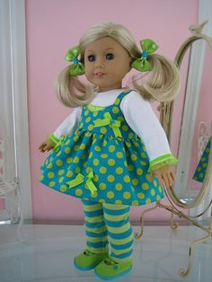 American Girl Doll Clothes made to fit 18 inch by MenaBella