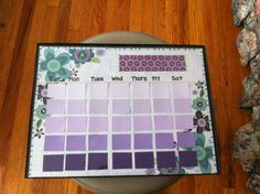 Paint chip calendar!
