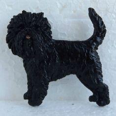 Affenpinscher-Black-Brooch-Dog-Breed-Jewellery-Handpainted