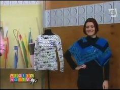 Claudia Maria Pelerine Aspen em Tricô