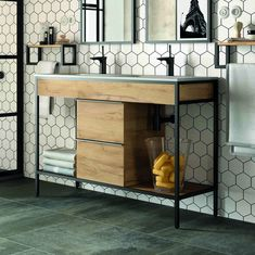 Seeking to upgrade your restroom? Feast your eyes on these lovely bathroom furniture motivation images for fresh suggestions. Decor, Bathroom Styling, Room Diy, Diy Furniture Decor, Bathroom Decor, Furniture, Bathroom Furniture, Diy Bathroom Vanity, Metal Furniture