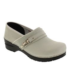 Look at this White Original Coushatta Leather Clog on #zulily today!