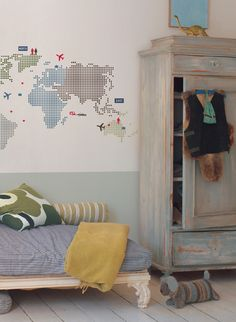 View our Kids Lab-World Map Giant Decal and other similar products for sale at great affordable prices with the opportunity to get big savings on your purchase. Deco Kids, Kids Decor, Home Decor, Kid Spaces, Boy Room, Room Inspiration, Kids Bedroom, Wall Decals, Wall Stickers