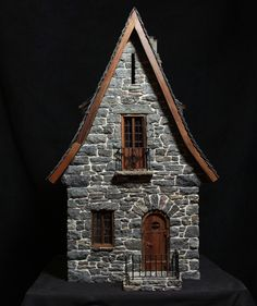 miniature stone cottge