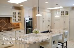 Beautiful kitchen done with white cabinets!