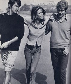 Three: Sam Waterston, Charlotte Rampling & Robie Porter // jeans & a button-up
