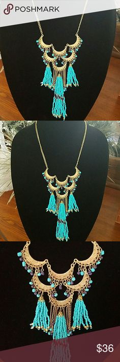 Boho Statement Necklace Brand new Boho Statement Necklace. No damages. See 4th pic for details. Macy's Jewelry Necklaces