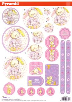 A4 3D StudioLight die cut pyramid decoupage - Some Bunny to Love, Birthday #34