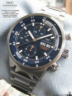 WatchNet: Luxury Time: FS-MINT IWC Cousteau Calypso Aquatimer Chronograph in STEEL BRACELET. ref. IW378201 'TRIBUTE TO CALYPSO'