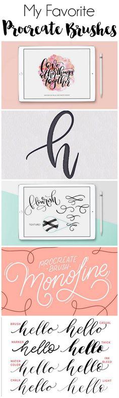 My Favorite iPad Lettering Brushes for Procreate | DawnNicoleDesigns.com
