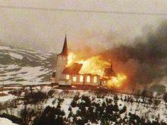 Church in flames