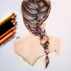 Ideas Fashion Drawing Hair Kristina Webb For 2019 Pretty Drawings, Amazing Drawings, Beautiful Drawings, Amazing Art, Awesome, Kristina Webb Art, Kristina Webb Drawings, Hair Sketch, Drawing Hair