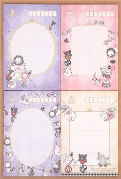 Juego papel de carta animales Sentimental Circus carpa Japón - Juegos de…