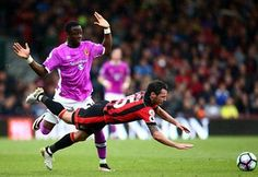 Hull's Adama Diomande fouls Bournemouth's Adam Smith during 6-1 win for the Cherries - the first time they'e scored six goals in a Premier League game. 15 October 2016