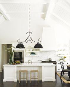 Savvy Home #Kitchen Island #Lights Vent Hood Idea