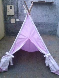 Cabana poá rosa