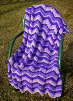 I have a blanket just like this in pink and purple that my Grandma made for me in junior high.  Love it....and still have it.