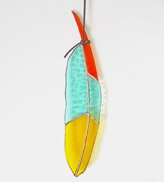 Atsos Stained Glass Feather by Colin Adrian Glass on Scoutmob