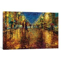 "Latitude Run Imidazalone Painting Print on Wrapped Canvas Size: 40"" H x 60"" W x 1.5"" D"