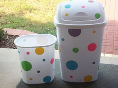 diy Updated trash cans by Flickr user carterfamily96, http://www.flickr.com/photos/17330560@N07/6006938902/in/photostream/