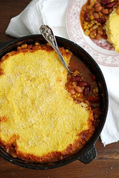 Three Bean Chili Polenta Pot Pie | Girl Versus Dough #glutenfree #vegetarian