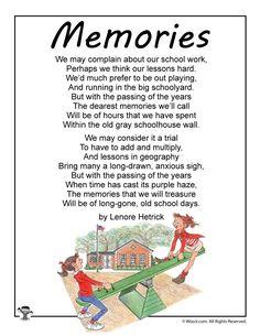 Memories School Poem for Kids | Woo! Jr. Kids Activities