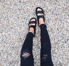 #birkenstocks and ripped jeans... http://rstyle.me/n/g2hhknqmn