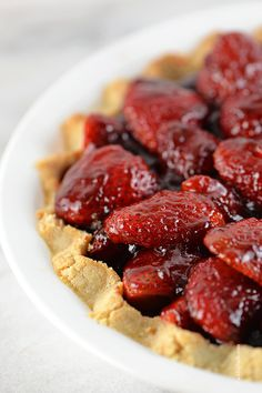 Strawberry Pie Recipe from addapinch.com
