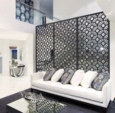 Living Room Wall Dividers - Buy Room Dividers at best price of Rs feet from Aura Design Works. Also find here related product comparison Metal Room Divider, Divider Screen, Partition Screen, Decorative Room Dividers, Decorative Screens, Wall Dividers, Decorative Metal, Sweet Home, Small Living Room Furniture