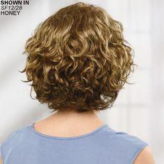 Chloe Lace Front WhisperLite® Wig by Paula Young® - 2 Modern Bob Haircut, Modern Bob Hairstyles, Undercut Hairstyles, Curly Bob Hairstyles, Short Curly Hair, Short Hair Cuts, Easy Hairstyles, Curly Hair Styles, Natural Hair Styles